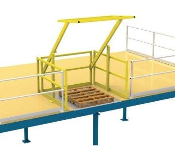 Verge Rollover Gate - mezzanine pallet gate - mezzanine pallet gate, mezzanine gate, mezzanine loading gate, loading gate, mezzanine rollover gate